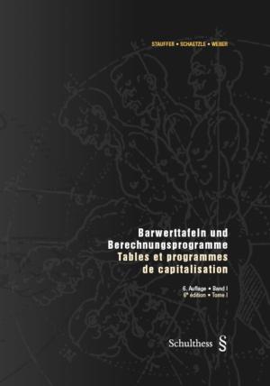Barwerttafeln und Berechnungsprogramme / Tables et programmes de capitalisation-0