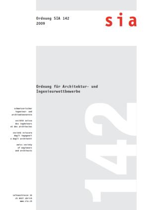 SIA142 - Ordnung für Architektur- und Ingenieurwettbewerbe-0