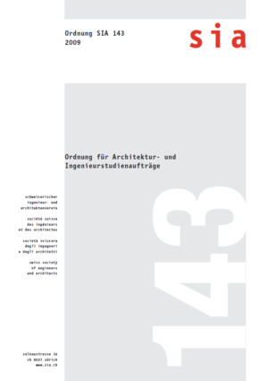 SIA143 - Ordnung für Architektur- und Ingenieurstudienaufträge-0