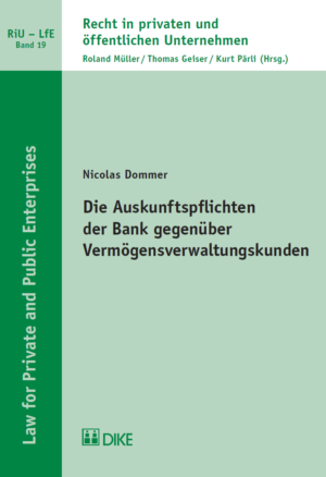 Die Auskunftspflichten der Bank gegenüber Vermögensverwaltungskunden-0