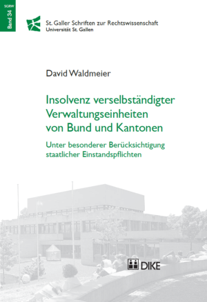 Insolvenz verselbständigter Verwaltungseinheiten von Bund und Kantonen-0
