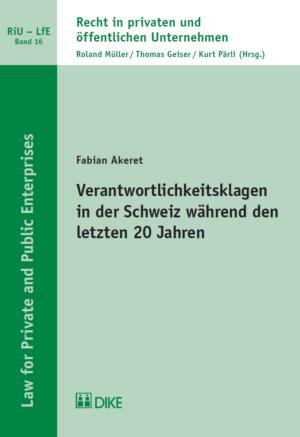 Verantwortlichkeitsklagen in der Schweiz während den letzten 20 Jahren-0