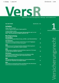 Versicherungsrecht – VersR - 2019-0