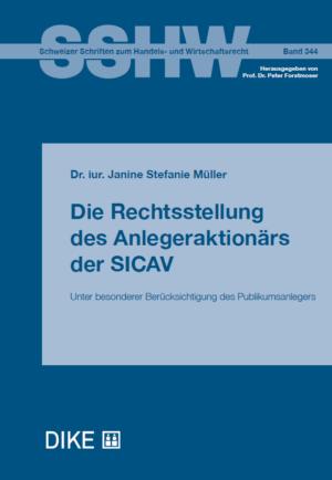 Die Rechtsstellung des Anlegeraktionärs der SICAV-0