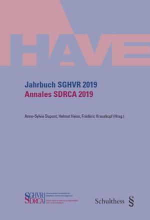 Jahrbuch SGHVR 2019 / Annales SDRCA 2019-0