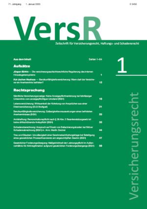 Versicherungsrecht – VersR – Jahresabonnement-0