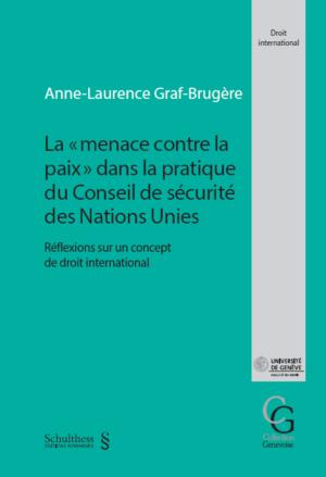 La « menace contre la paix » dans la pratique du conseil de sécurité des Nations Unies-0