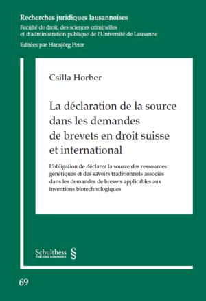 La déclaration de la source dans les demandes de brevets en droit suisse et international-0