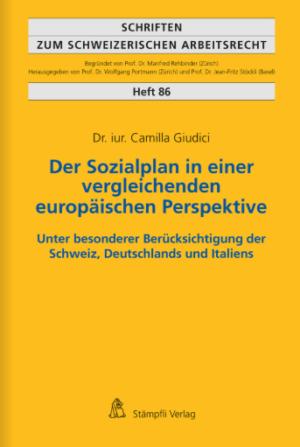 Der Sozialplan in einer vergleichenden europäischen Perspektive-0